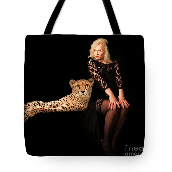 Tote Bag featuring the photograph Human And Animal by Christine Sponchia