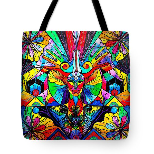 Human Self Awareness Tote Bag by Teal Eye  Print Store