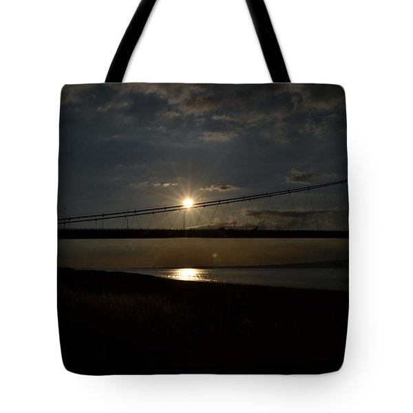 Humber Bridge Sunset Tote Bag
