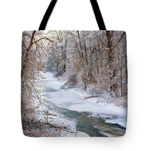Humber River Winter Tote Bag by Steve Harrington