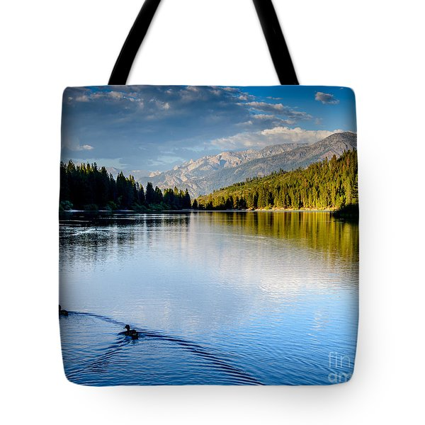 Hume Lake Evening Tote Bag