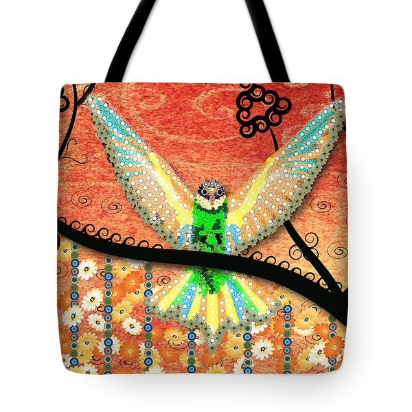 Tote Bag featuring the digital art Hummer Love by Kim Prowse