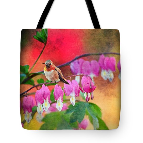 Hummer With Heart Tote Bag by Lynn Bauer