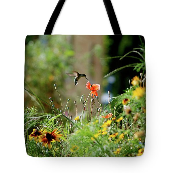 Tote Bag featuring the photograph Humming Bird by Thomas Woolworth