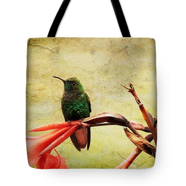 Tote Bag featuring the photograph Hummingbird 1 by Teresa Zieba