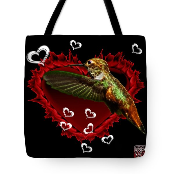 Tote Bag featuring the digital art Hummingbird - 2055 F by James Ahn