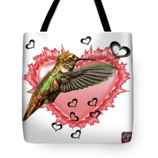 Tote Bag featuring the painting Hummingbird - 2055 F S M by James Ahn