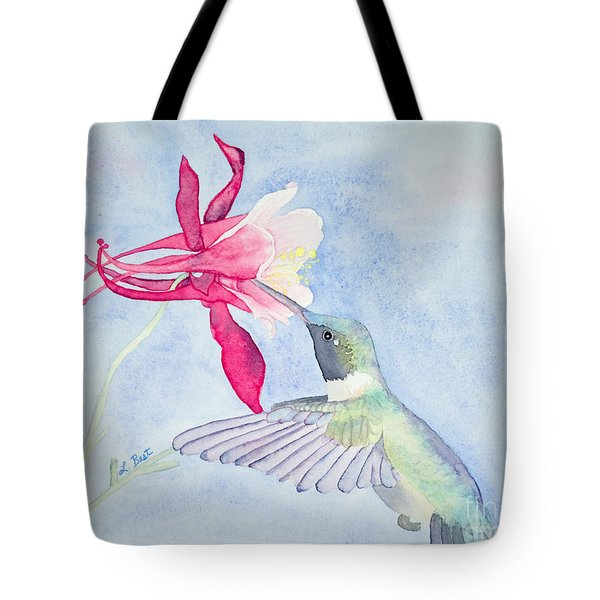 Hummingbird And Columbine Tote Bag