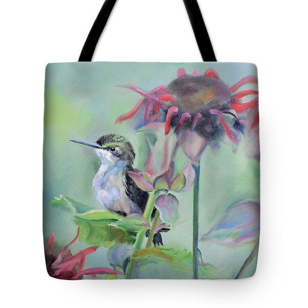 Hummingbird And Coneflowers Tote Bag