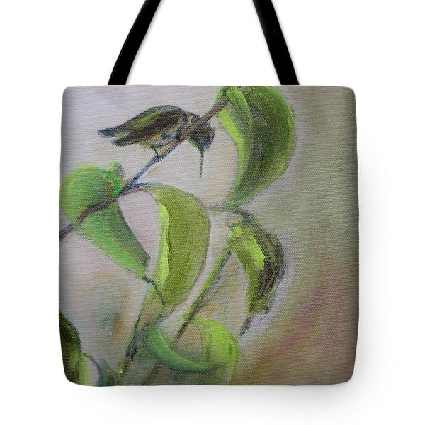 Hummingbird At Rest Tote Bag