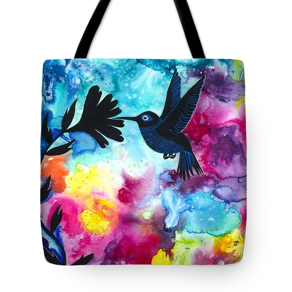 Hummingbird Tote Bag by Cat Athena Louise