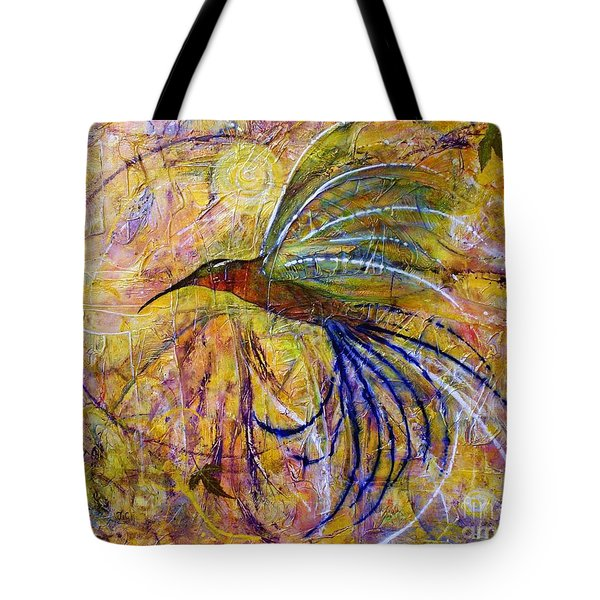 Hummingbird Don't Fly Away Tote Bag