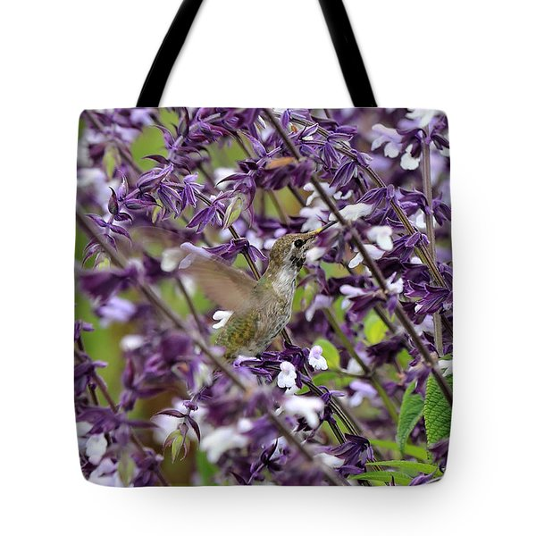 Hummingbird Flowers Tote Bag