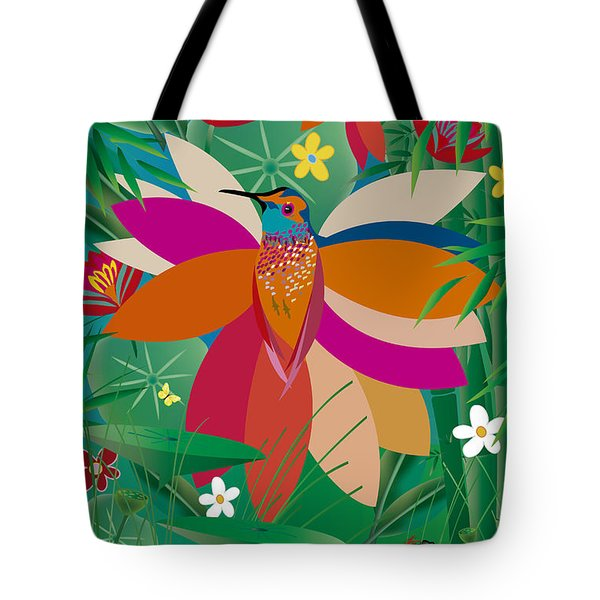 Hummingbird - Limited Edition  Of 10 Tote Bag by Gabriela Delgado