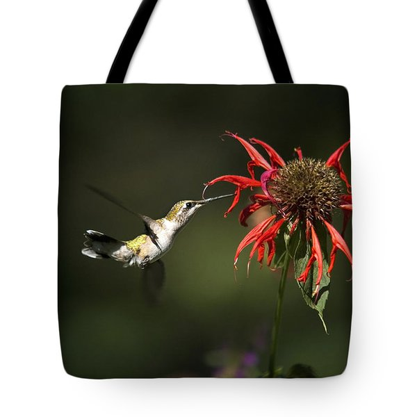 Hummingbird Garden Angel Tote Bag by Christina Rollo