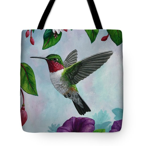 Hummingbird Greeting Card 1 Tote Bag by Crista Forest