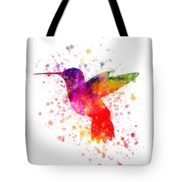 Hummingbird In Color Tote Bag by Aged Pixel
