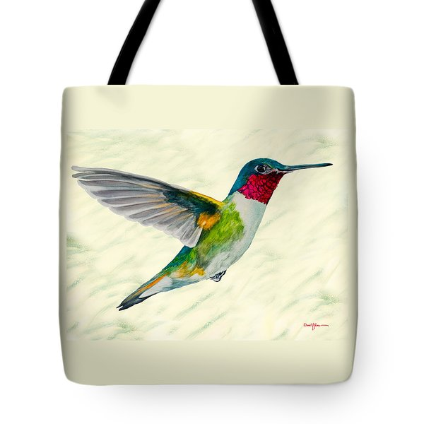 Da103 Broadtail Hummingbird Daniel Adams Tote Bag