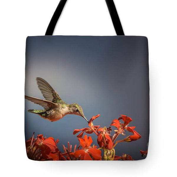 Hummingbird Or My Summer Visitor Tote Bag by Jola Martysz