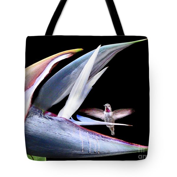 Tote Bag featuring the photograph Hummingbird Paradise by Jennie Breeze