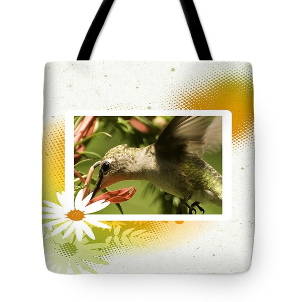 Hummingbird Whimsy Tote Bag
