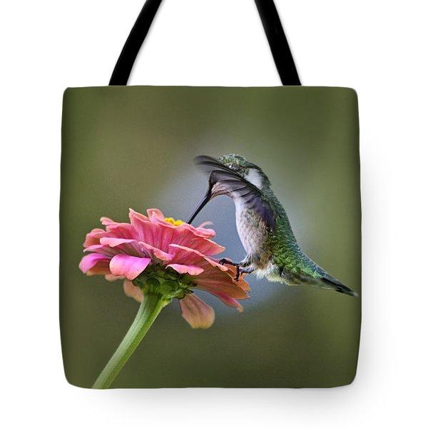 Hummingbirds Pure Goodness Tote Bag by Christina Rollo