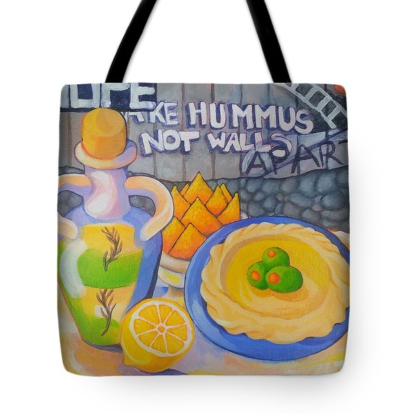 Hummus Behind A Wall Tote Bag