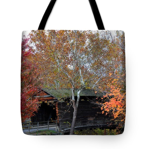 Tote Bag featuring the photograph Humpback Bridge by Cathy Shiflett