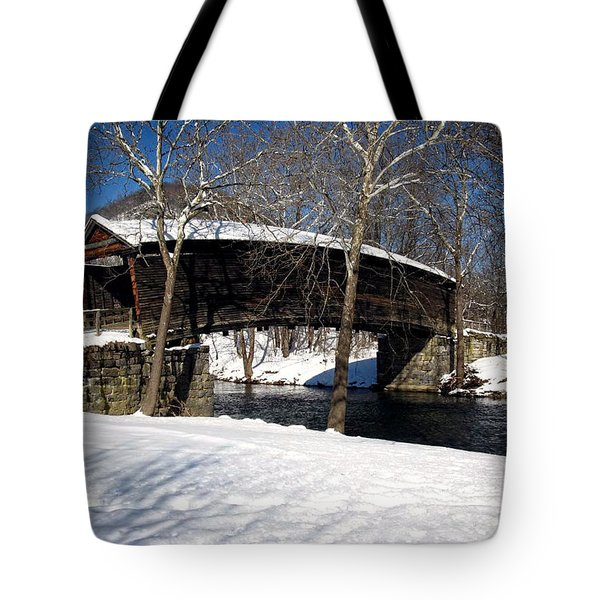 Humpback In The Winter Tote Bag by Cathy Shiflett
