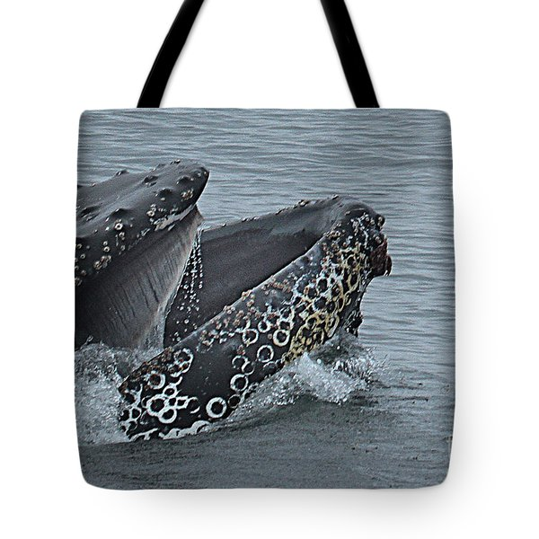 Tote Bag featuring the photograph Humpback Whale  Lunge Feeding 2013 In Monterey Bay by California Views Mr Pat Hathaway Archives