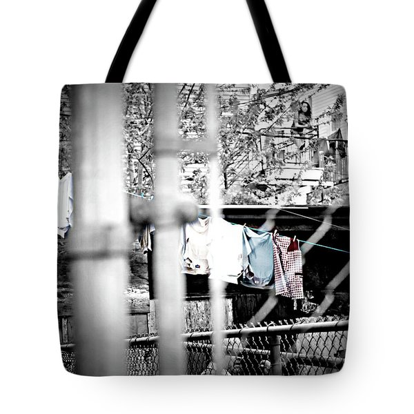 Hung To Dry Tote Bag by Lisa Knechtel