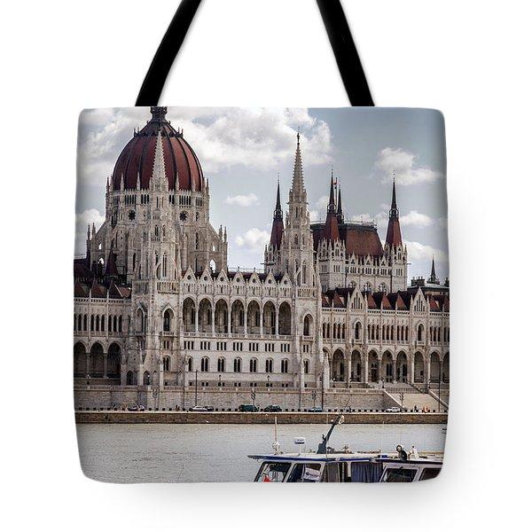 Hungarian Parliament Across The Danube Tote Bag
