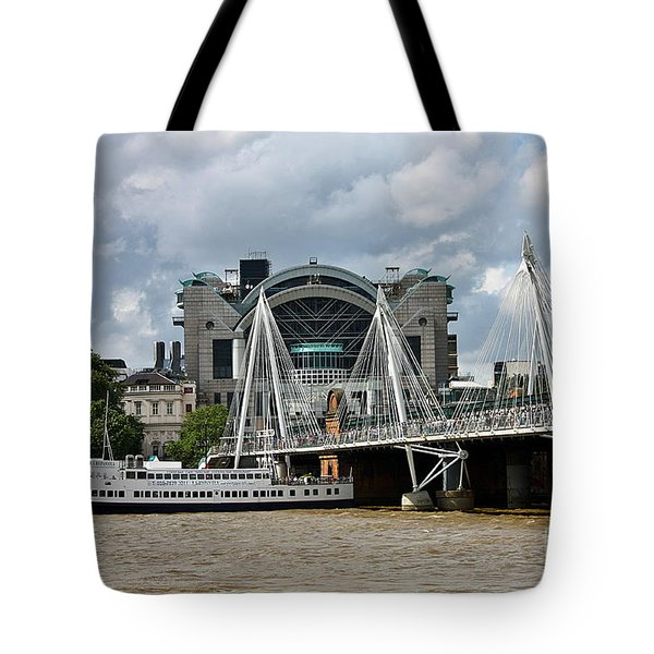 Hungerford Bridge And Charing Cross Tote Bag