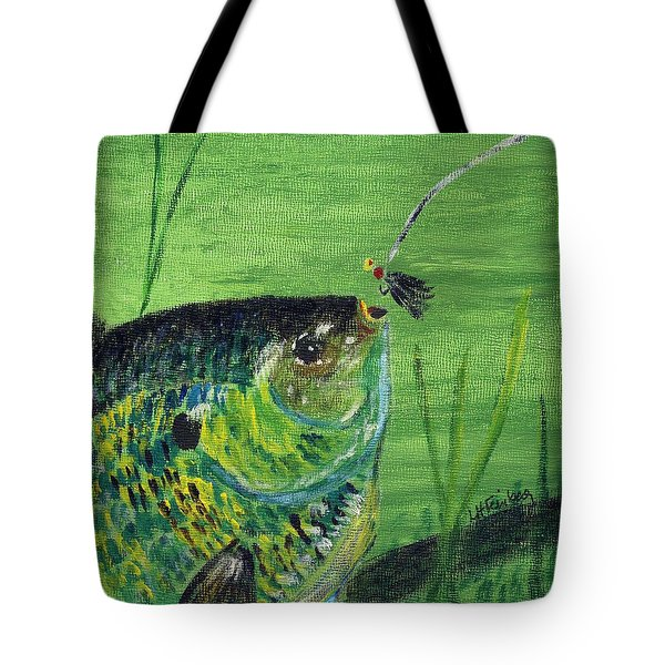 Hungry Bluegill Tote Bag