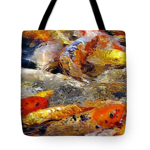 Hungry Koi Tote Bag