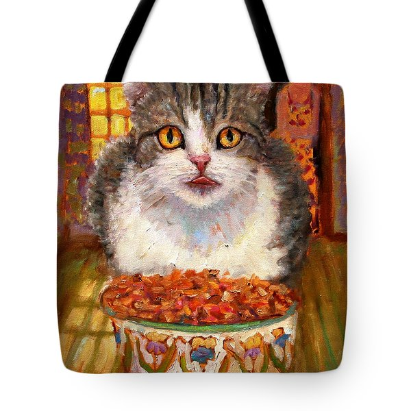 Hungry Cat Tote Bag