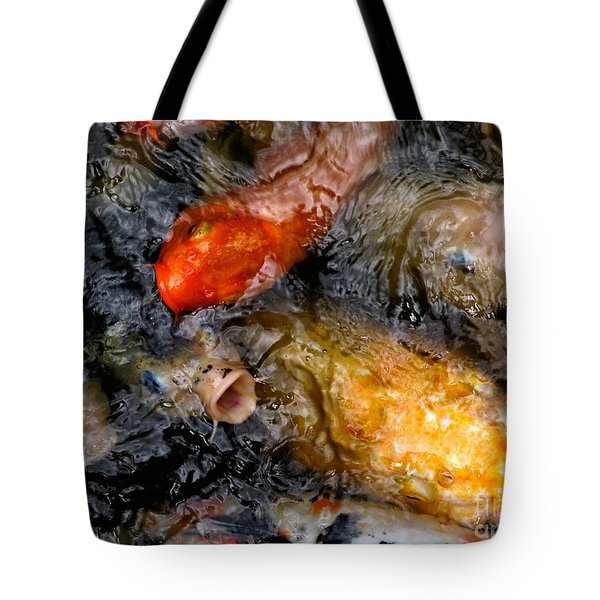 Hungry Koi Fish Tote Bag