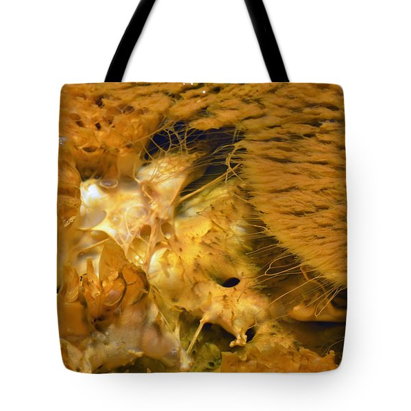 Hungry Looking Bacterial Mat Yellowstone Tote Bag by Bruce Gourley