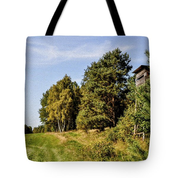 Hunter Lookout Tote Bag by Aged Pixel