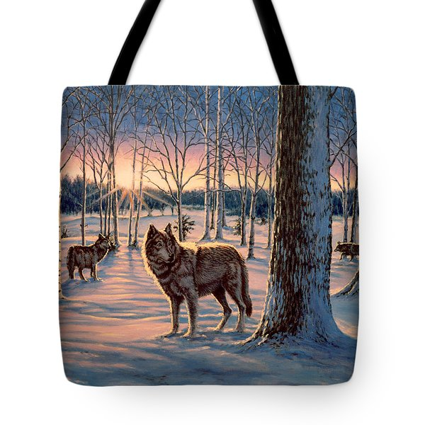 Hunters At Twilight Tote Bag