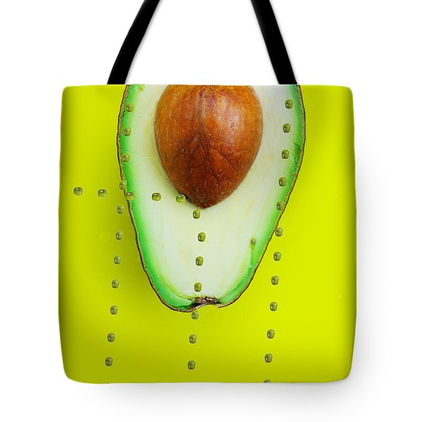 Tote Bag featuring the photograph Hunters Depicting Rutherford Atomic Model By Avocado Food Physics by Paul Ge