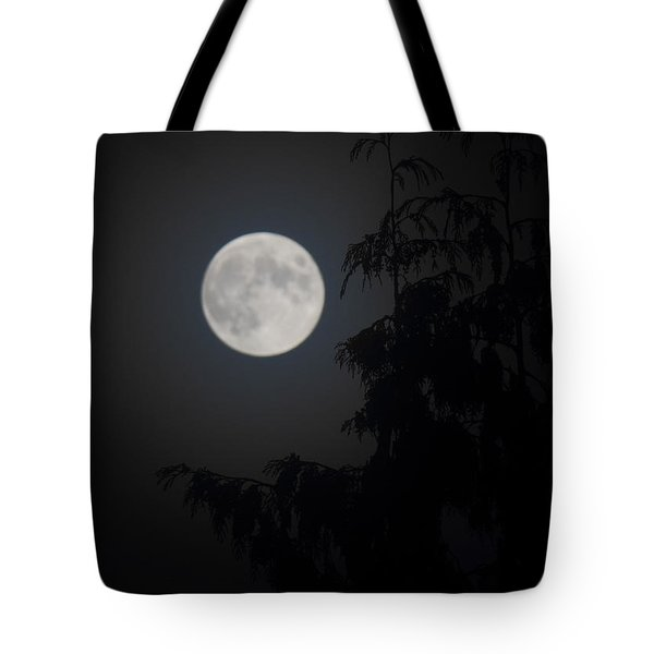 Hunters Moon Tote Bag by Randy Hall