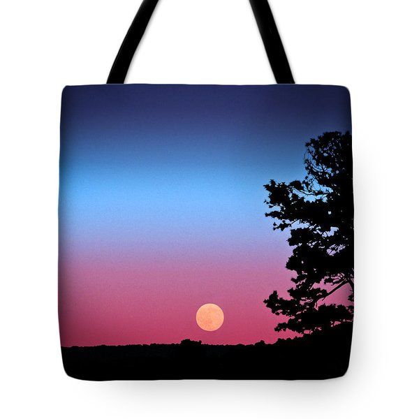 Tote Bag featuring the photograph Hunter's Moonrise In Eastern Arizona by John Haldane