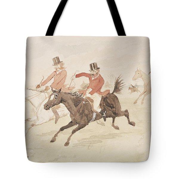 Hunting Scene  Tote Bag