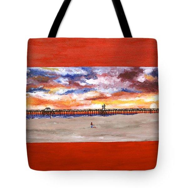 Huntington Beach Pier 3 Tote Bag