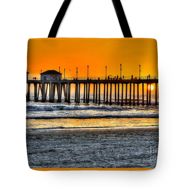 Huntington Beach Sunset Tote Bag