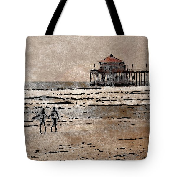 Huntington Beach Surfers Tote Bag