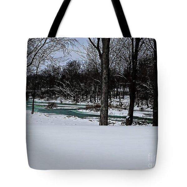 Huron River In Monroeville Tote Bag