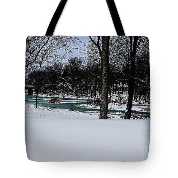 Huron River In Monroeville Tote Bag