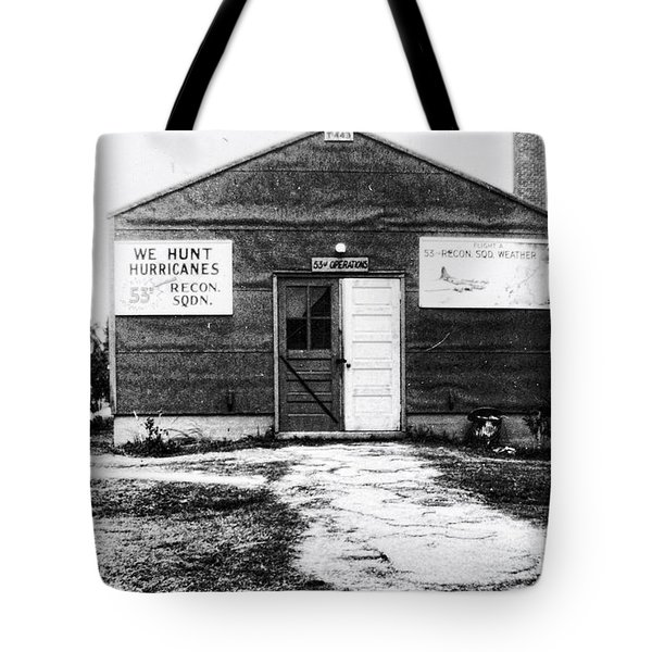 Hurricane Hunters Outbuilding In Alaska Tote Bag